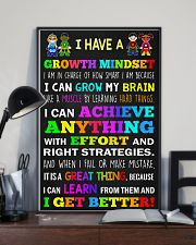 Teacher - I Have A Growth Mindset 11x17 Poster lifestyle-poster-2