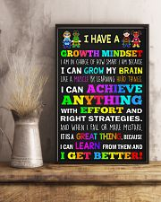 Teacher - I Have A Growth Mindset 11x17 Poster lifestyle-poster-3