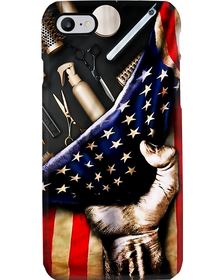 Hairstylist Tools American Flag  Phone Case