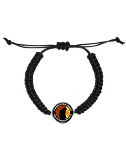 To The World My Son Is A Firefighter  Cord Circle Bracelet thumbnail