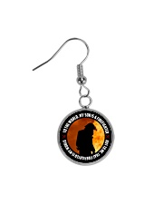 To The World My Son Is A Firefighter  Circle Earrings thumbnail