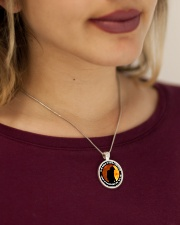 To The World My Son Is A Firefighter  Metallic Circle Necklace aos-necklace-circle-metallic-lifestyle-1