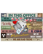 We Are Rad Techs Radiology Art Print  17x11 Poster front