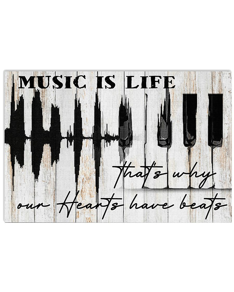 Pianist Piano Music Is Life 17x11 Poster