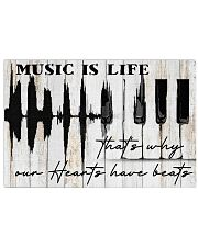 Pianist Piano Music Is Life 17x11 Poster front