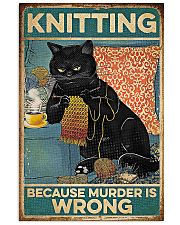 Crochet And Knitting - Murder Is Wrong 11x17 Poster front
