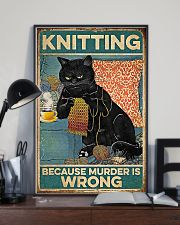 Crochet And Knitting - Murder Is Wrong 11x17 Poster lifestyle-poster-2