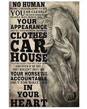 Horse Girl - Your horse holds you accountable  11x17 Poster front