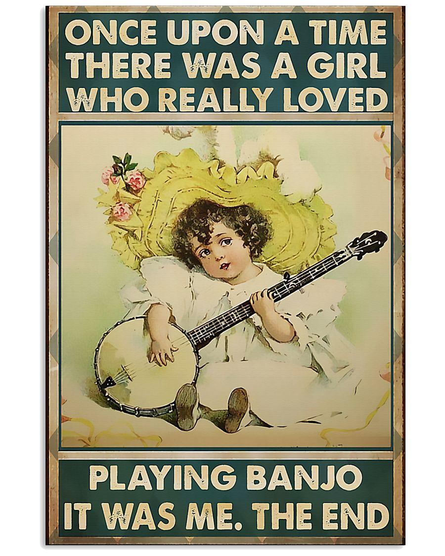 Girl Loved Playing Banjo 11x17 Poster