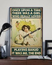 Girl Loved Playing Banjo 11x17 Poster lifestyle-poster-2