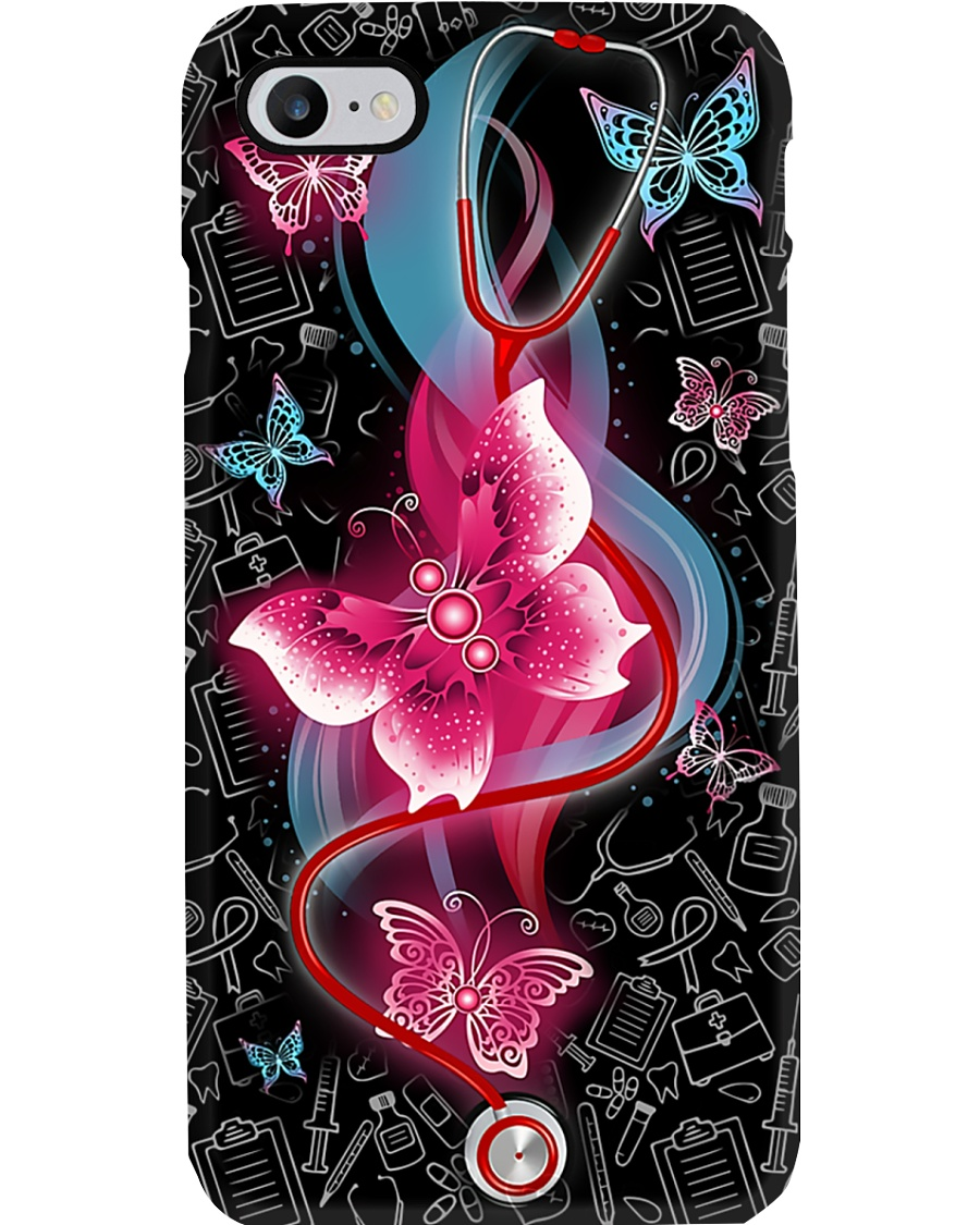 Stethoscope Butterflies CNA Phone Case