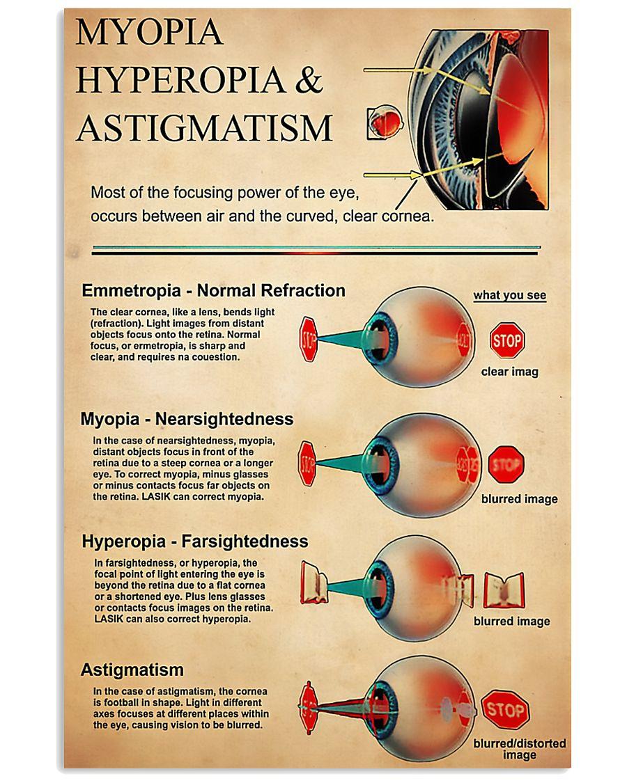 Optometrist Myopia Hyperopia 11x17 Poster