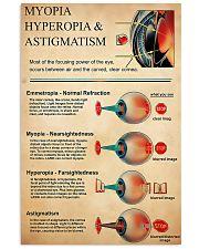 Optometrist Myopia Hyperopia 11x17 Poster front