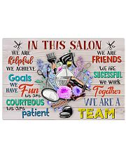Hairstylists We Are A Team  17x11 Poster front