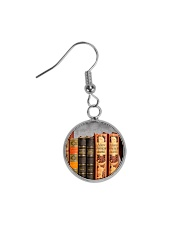 Librarian Books necklace Circle Earrings thumbnail
