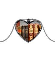 Librarian Books necklace Metallic Heart Necklace thumbnail