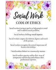 Social Worker Code Of Ethics 11x17 Poster front