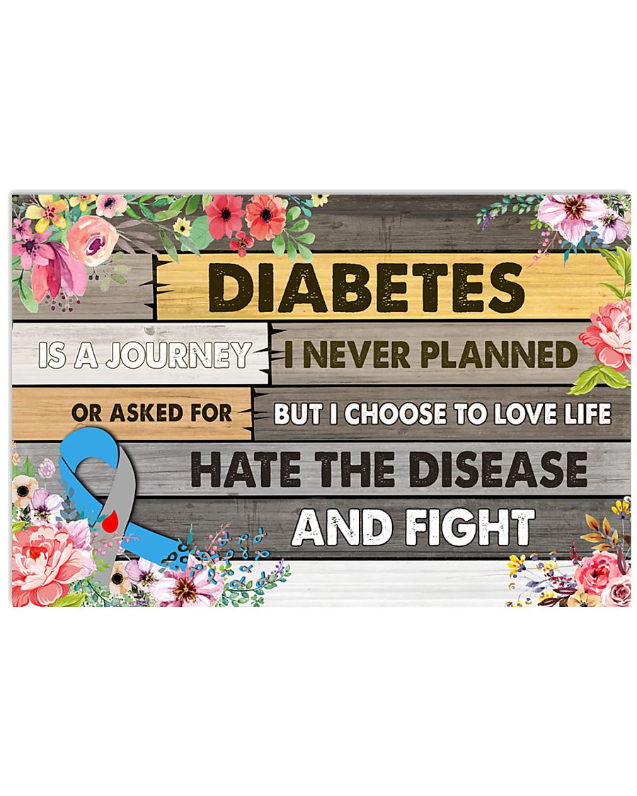 Diabetes Is A Journey 17x11 Poster