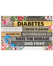 Diabetes Is A Journey 17x11 Poster front