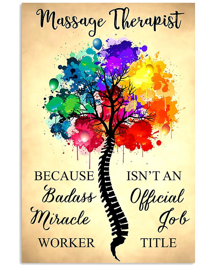 Massage Therapist badass miracle worker 11x17 Poster