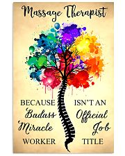 Massage Therapist badass miracle worker 11x17 Poster front