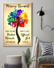Massage Therapist badass miracle worker 11x17 Poster lifestyle-poster-1