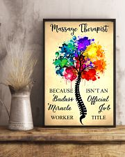 Massage Therapist badass miracle worker 11x17 Poster lifestyle-poster-3