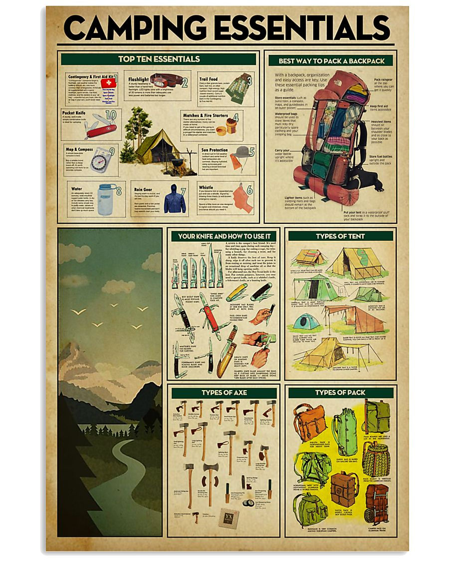 Camping Essentials 11x17 Poster