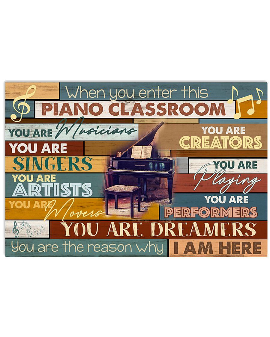 Pianist Piano Classroom 17x11 Poster