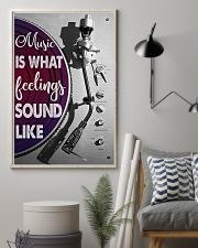 DJ Music Is What Feelings Sound Like 11x17 Poster lifestyle-poster-1
