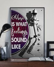 DJ Music Is What Feelings Sound Like 11x17 Poster lifestyle-poster-2