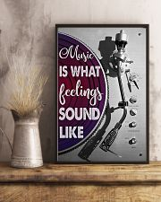 DJ Music Is What Feelings Sound Like 11x17 Poster lifestyle-poster-3