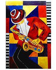 Saxophonist Saxophone Man Art Shapes 11x17 Poster front