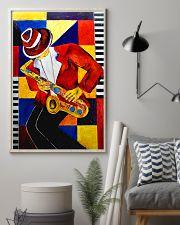 Saxophonist Saxophone Man Art Shapes 11x17 Poster lifestyle-poster-1