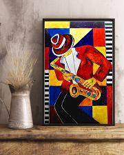 Saxophonist Saxophone Man Art Shapes 11x17 Poster lifestyle-poster-3