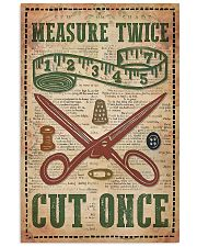 Sewing Measure Twice Cut Once 11x17 Poster front