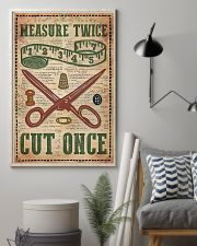 Sewing Measure Twice Cut Once 11x17 Poster lifestyle-poster-1
