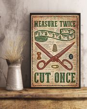 Sewing Measure Twice Cut Once 11x17 Poster lifestyle-poster-3