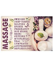 Massage Therapist Massage 17x11 Poster front