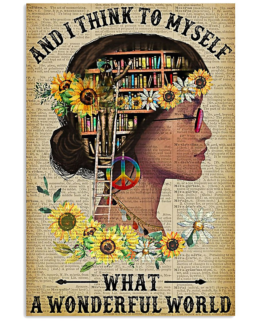 Library A Wonderful World  11x17 Poster