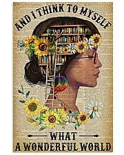 Library A Wonderful World  11x17 Poster front