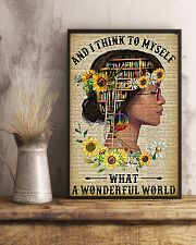 Library A Wonderful World  11x17 Poster lifestyle-poster-3