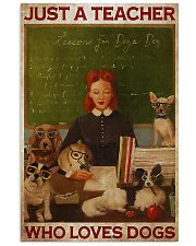 Just A Teacher Who Loves Dogs 11x17 Poster front