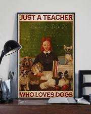 Just A Teacher Who Loves Dogs 11x17 Poster lifestyle-poster-2