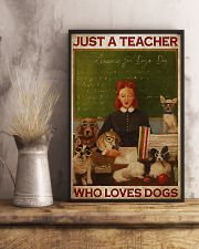 Just A Teacher Who Loves Dogs 11x17 Poster lifestyle-poster-3