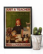Just A Teacher Who Loves Dogs 11x17 Poster lifestyle-poster-8