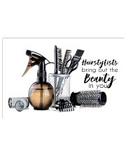 Hairstylists bring out the beauty 17x11 Poster front