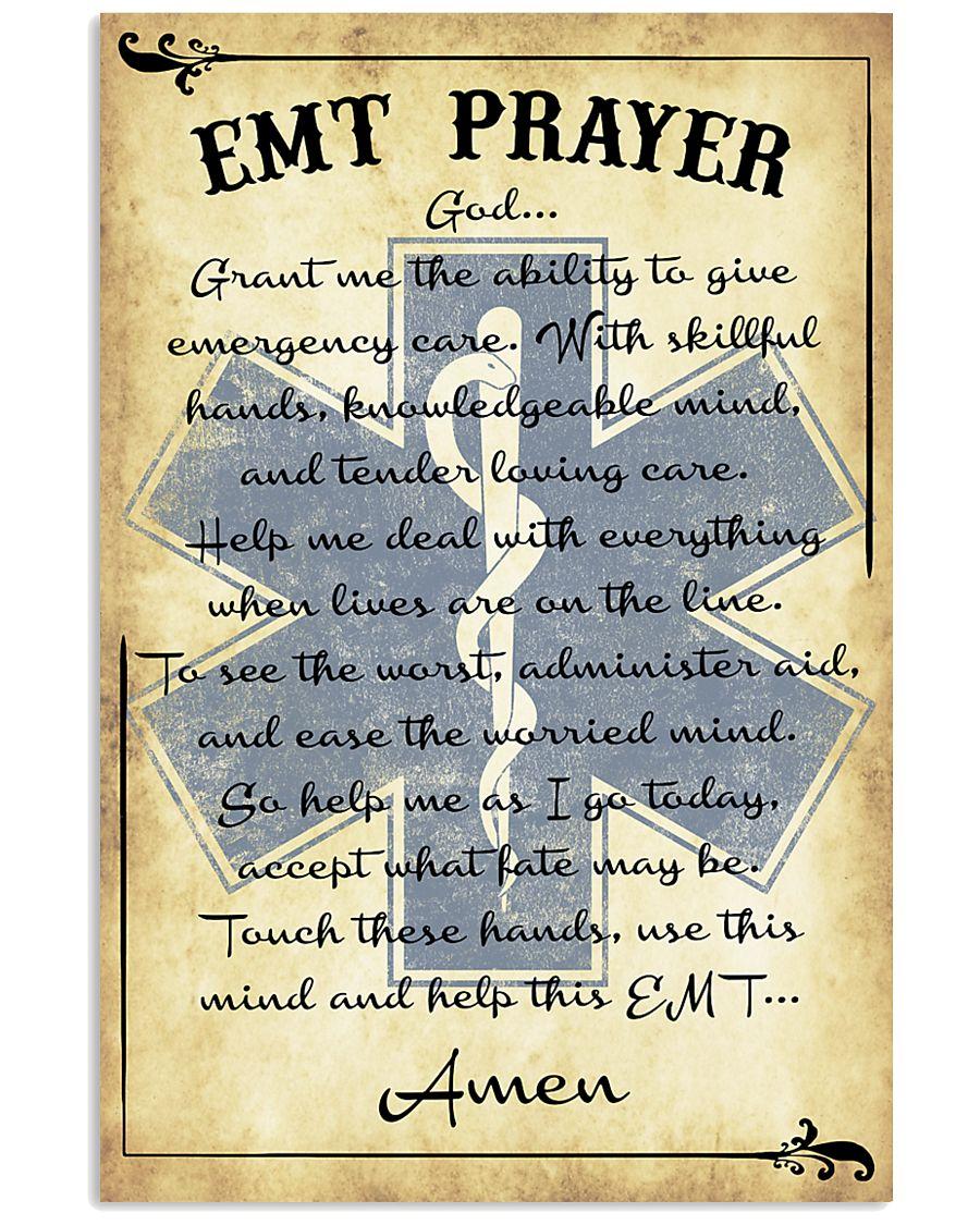Paramedic EMT Prayer 11x17 Poster