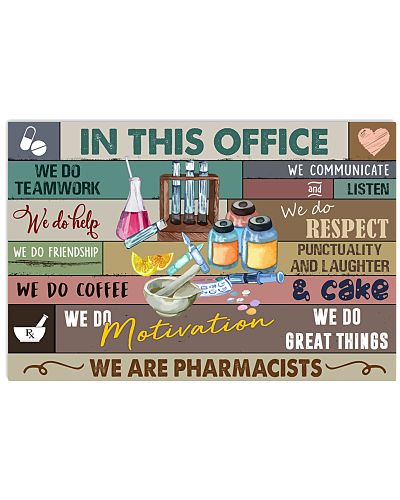 Pharmacist in office