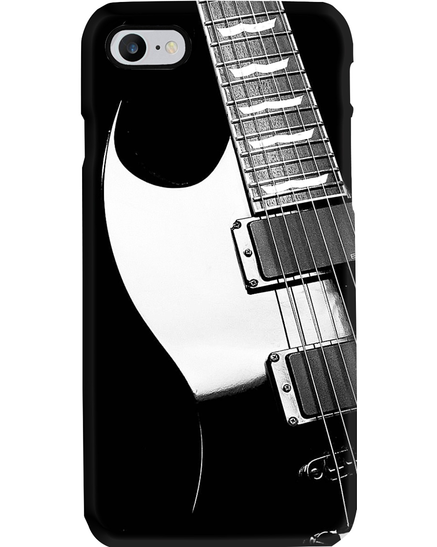 Art Black And White Guitar Phone Case
